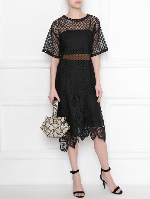 Блуза кружевная с декором Alberta Ferretti - Общий вид