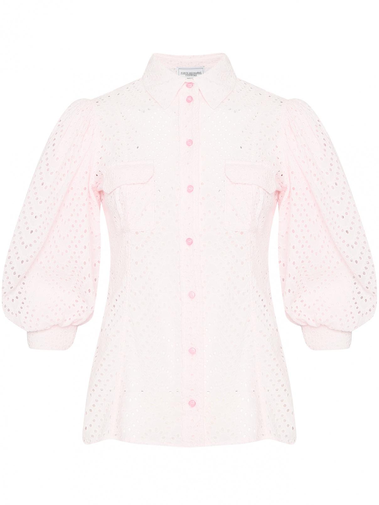 Блуза из хлопка на пуговицах Forte Couture  –  Общий вид