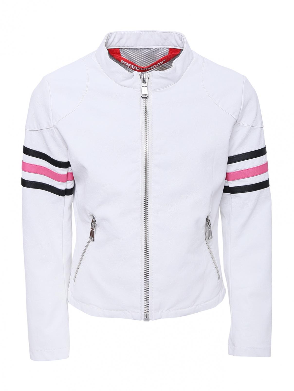 Куртка из эко-кожи в байкерском стиле Freedomday  –  Общий вид