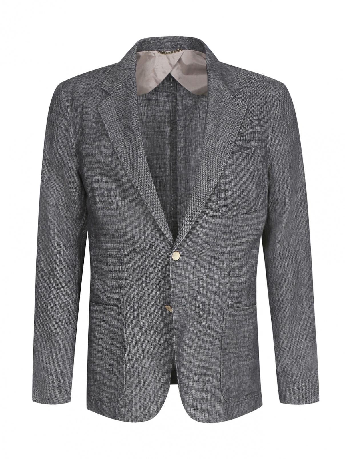 Пиджак однобортный из льна Hugo Boss  –  Общий вид