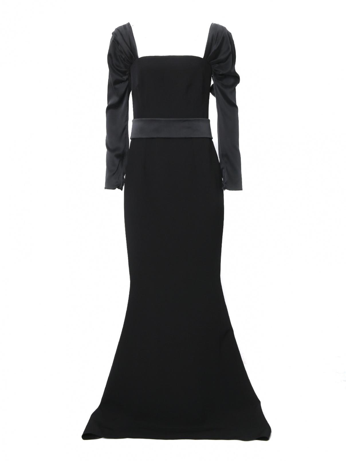 Платье-макси с поясом Safiyaa  –  Общий вид