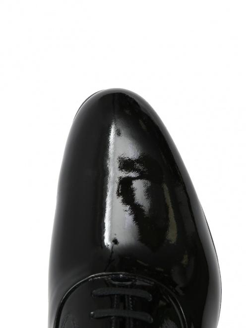 Туфли из лаковой кожи на шнурках - Обтравка3