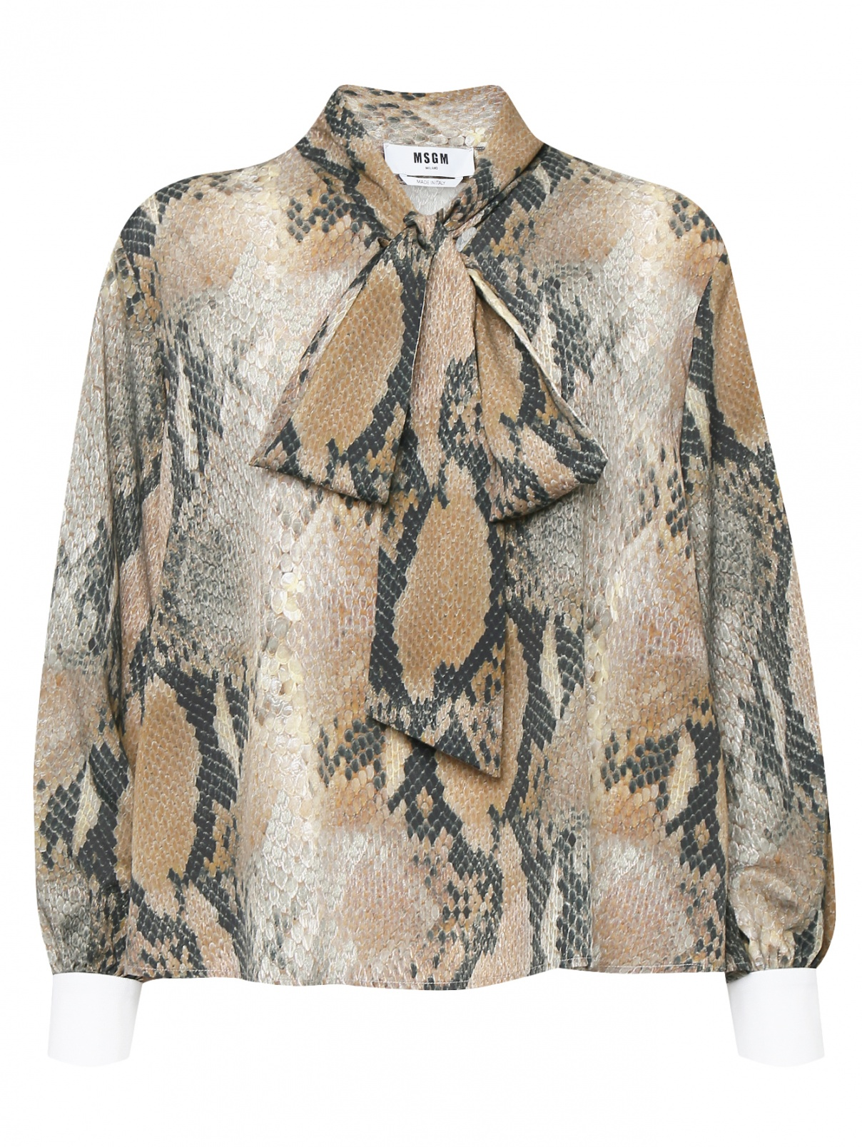 Блуза свободного кроя с узором MSGM  –  Общий вид