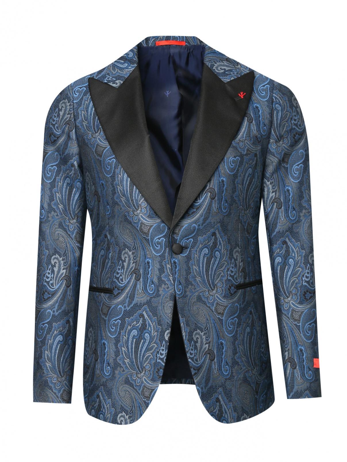 Пиджак из шерсти и шелка с узором Isaia  –  Общий вид