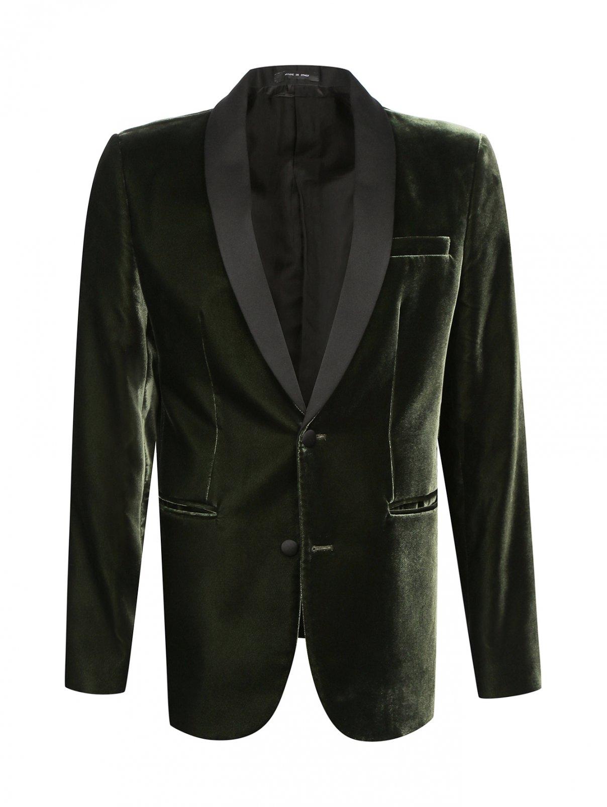 Однобортный вельветовый пиджак Emporio Armani  –  Общий вид