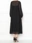 Платье-миди свободного кроя с узором полоска Marina Rinaldi  –  МодельВерхНиз1
