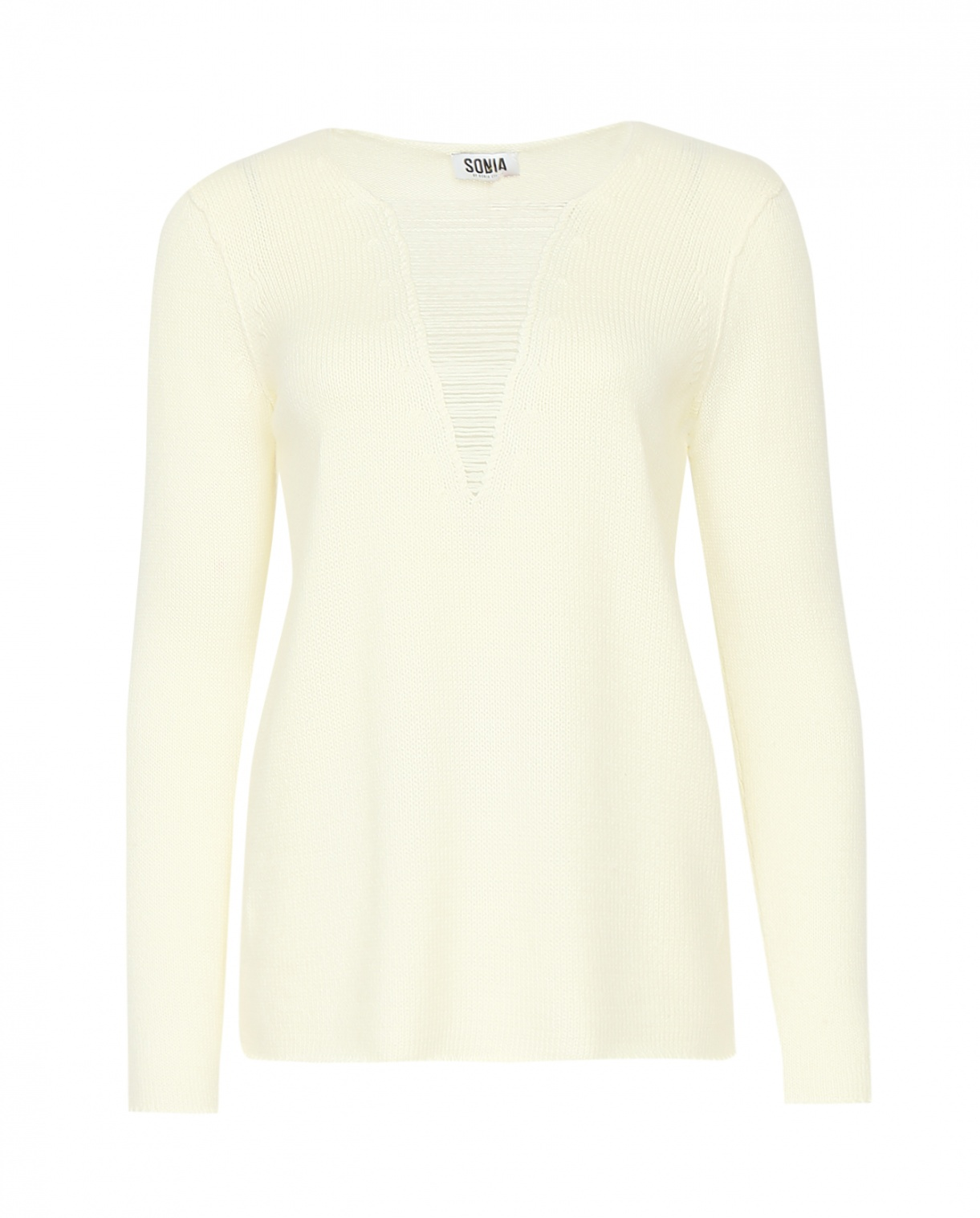 Джемпер из шерсти с декоративной вставкой на груди Sonia By Sonia Rykiel  –  Общий вид
