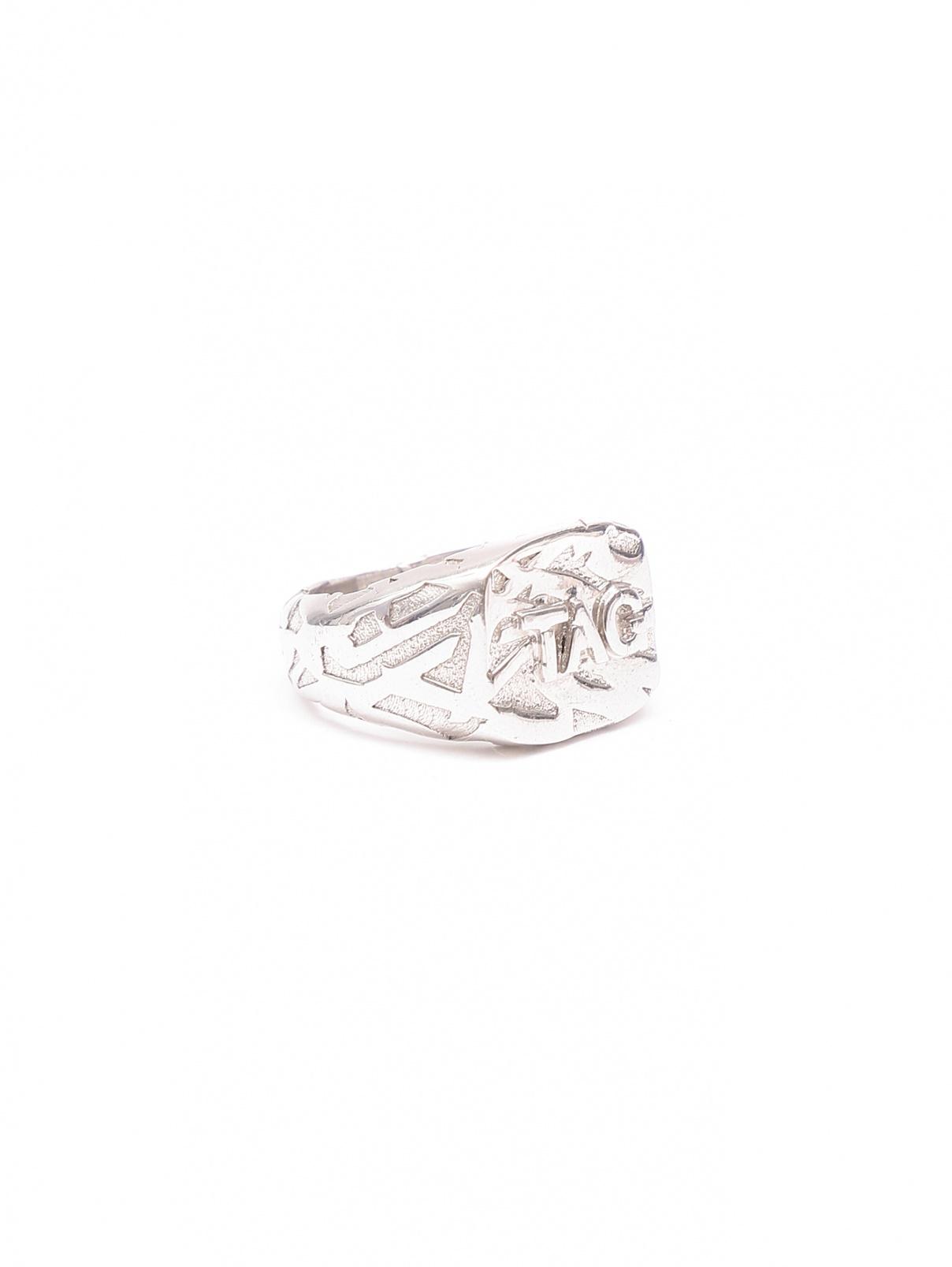 Кольцо из серебра с тиснением Asher Ney  –  Общий вид