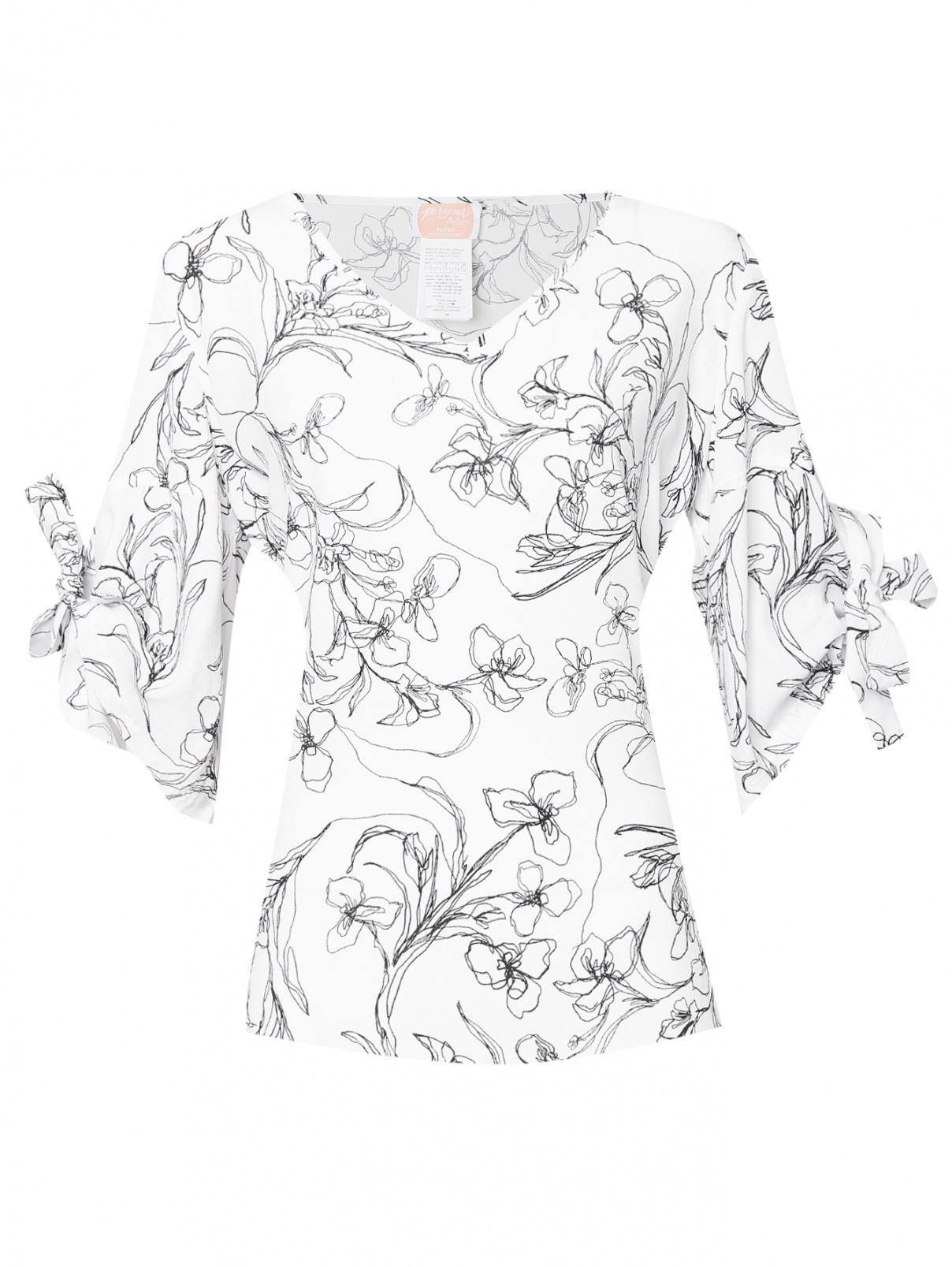 Блуза из вискозы с узором Persona by Marina Rinaldi  –  Общий вид