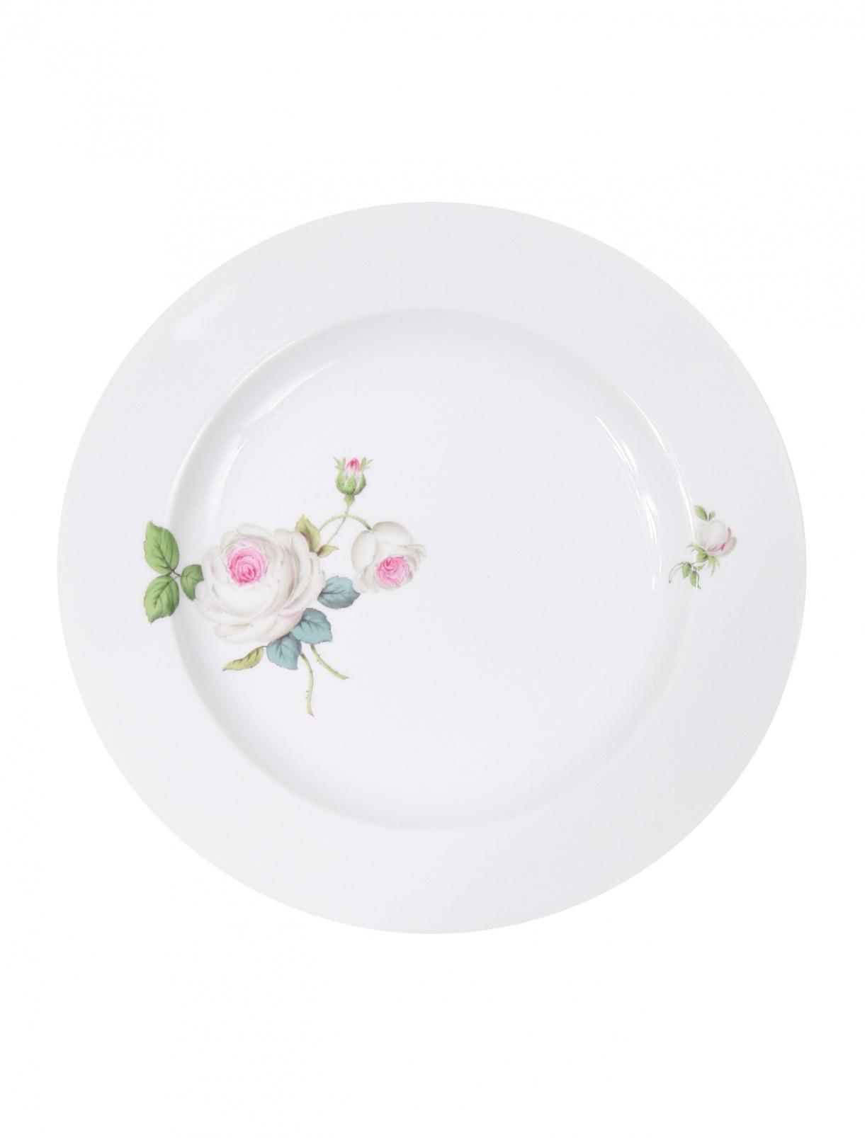 Тарелка десертная из фарфора с цветочным узором Meissen  –  Общий вид