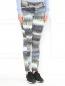 Узкие брюки из хлопка с боковыми карманами и узором Kenzo  –  Модель Верх-Низ