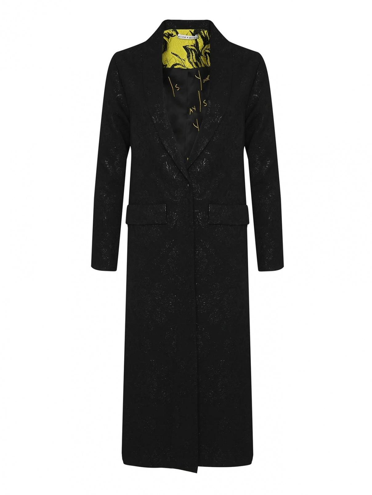 Пальто легкое с цветочным узором Alice+Olivia  –  Общий вид