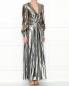Платье-макси из смешанного шелка Alberta Ferretti  –  МодельВерхНиз