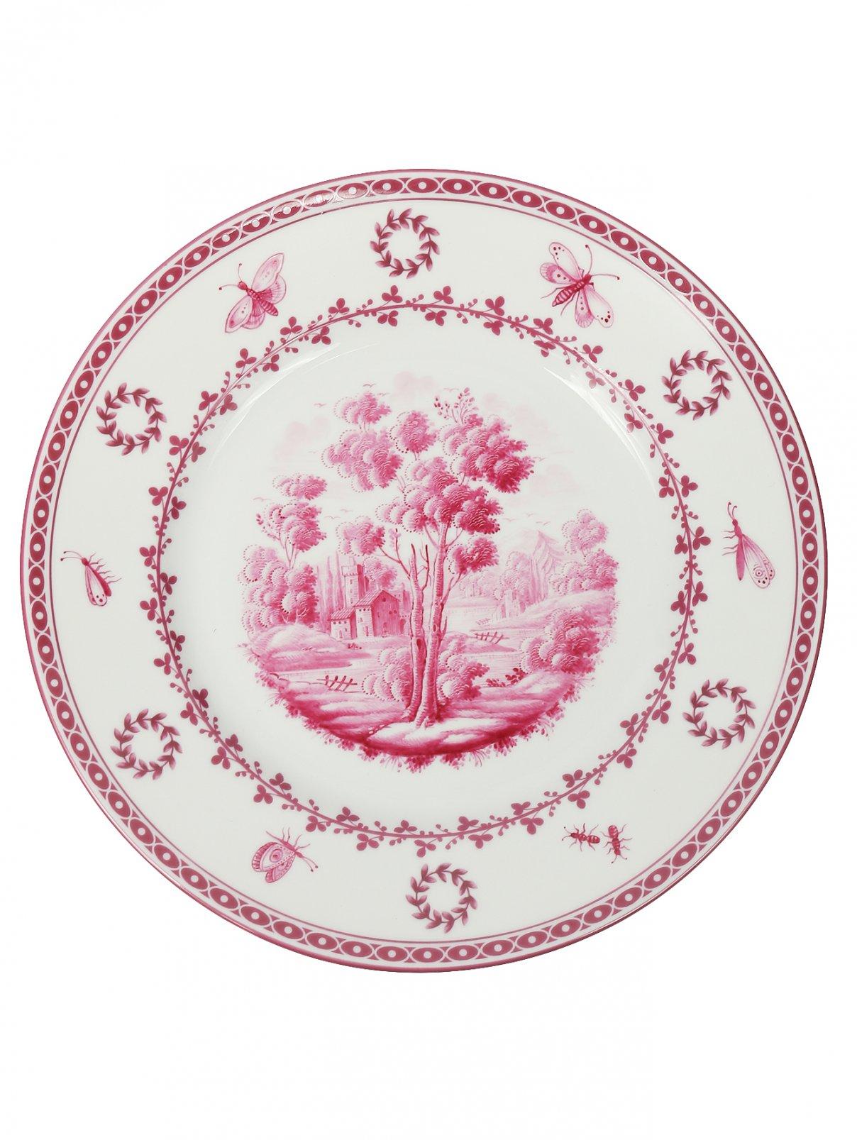 Тарелка десертная  из фарфора с узором и орнаментом Richard Ginori 1735  –  Общий вид