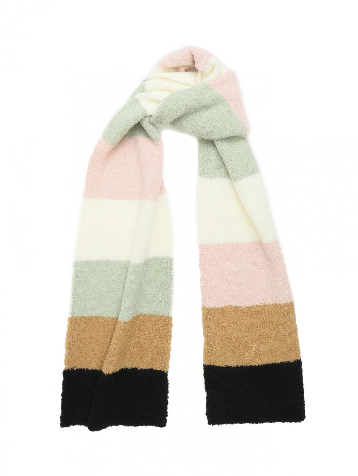 Шарф объемной вязки из смесовой шерсти Persona by Marina Rinaldi  –  Общий вид