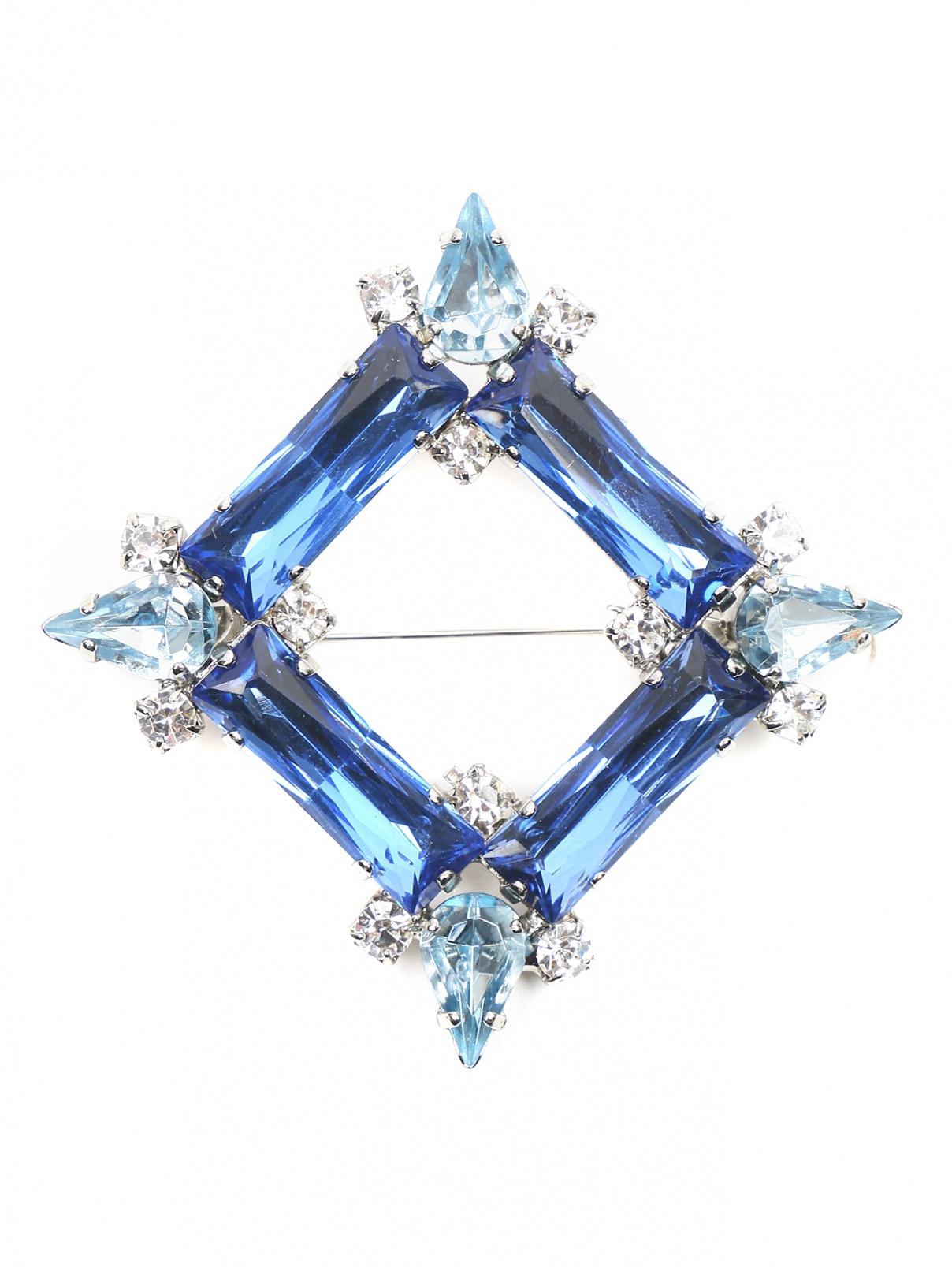 Брошь из металла декорированная кристаллами Persona by Marina Rinaldi  –  Общий вид