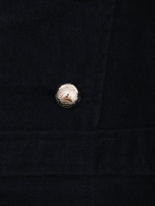 Платье бархатное с пуговицами - Деталь1