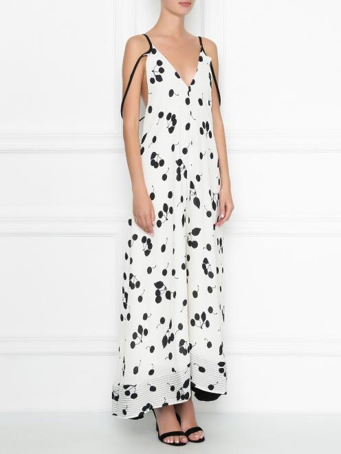 Платье-макси с узором на бретелях 3.1 Phillip Lim - МодельВерхНиз