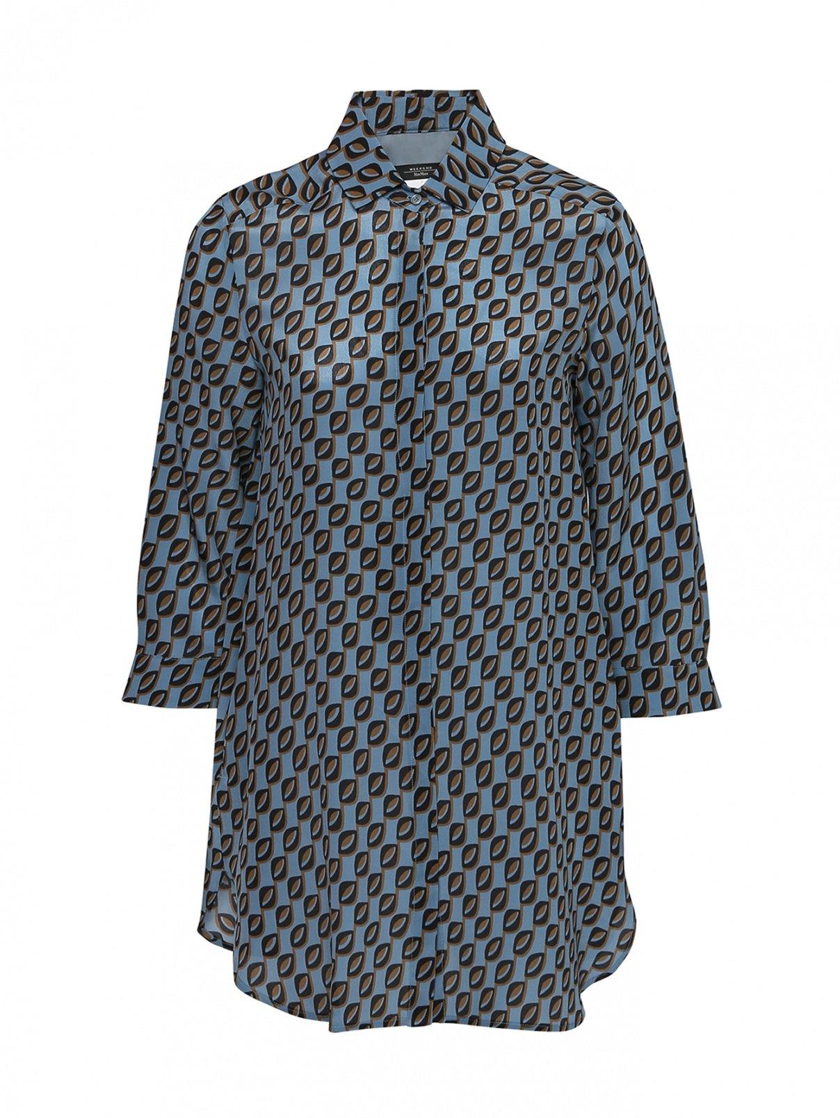 Блуза шелковая с узором Weekend Max Mara  –  Общий вид