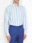 Рубашка из хлопка с принтом Etro  –  МодельВерхНиз