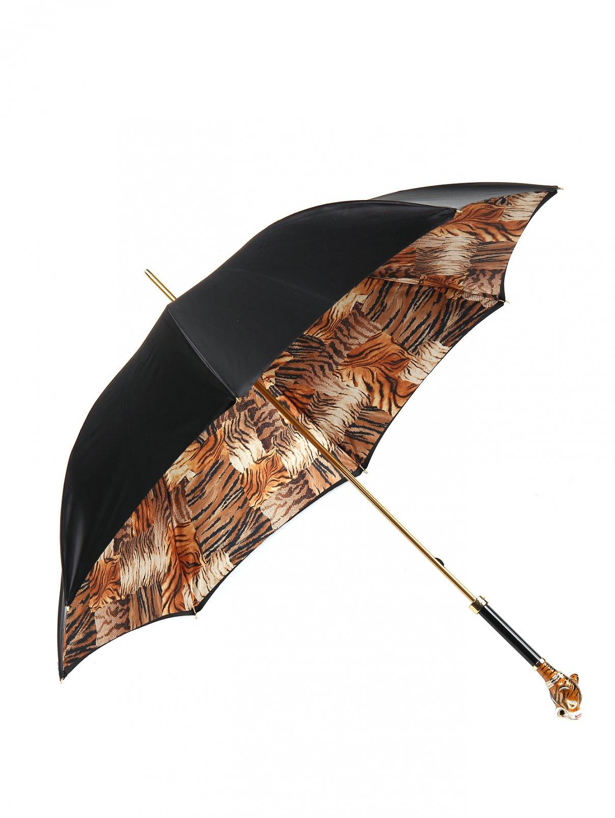 Зонт-трость с контрастными вставками из кристаллов Swarowski Pasotti  –  Общий вид