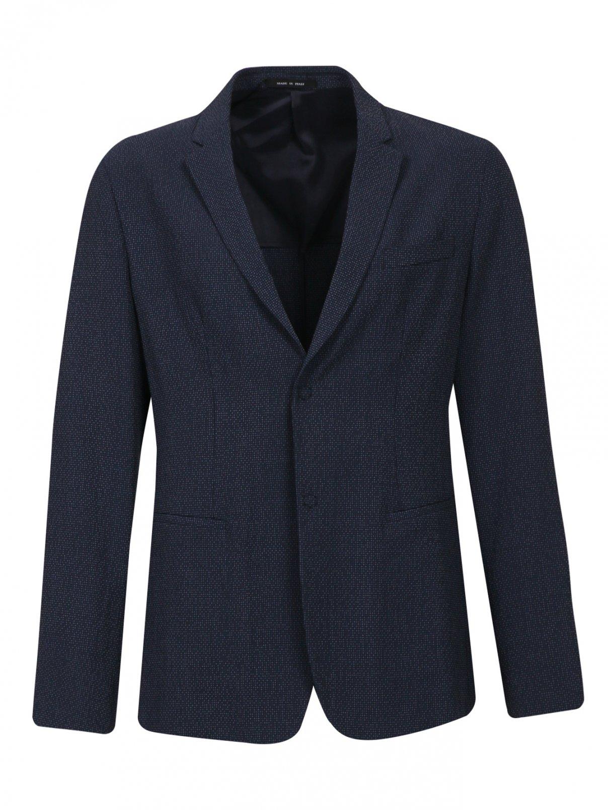 Пиджак из шерсти и шелка Emporio Armani  –  Общий вид