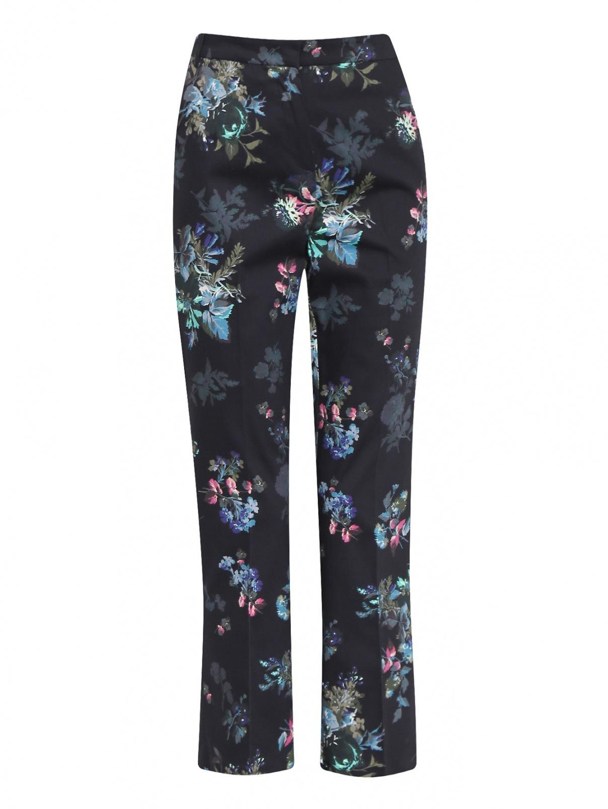 Укороченные брюки из хлопка с узором Max&Co  –  Общий вид