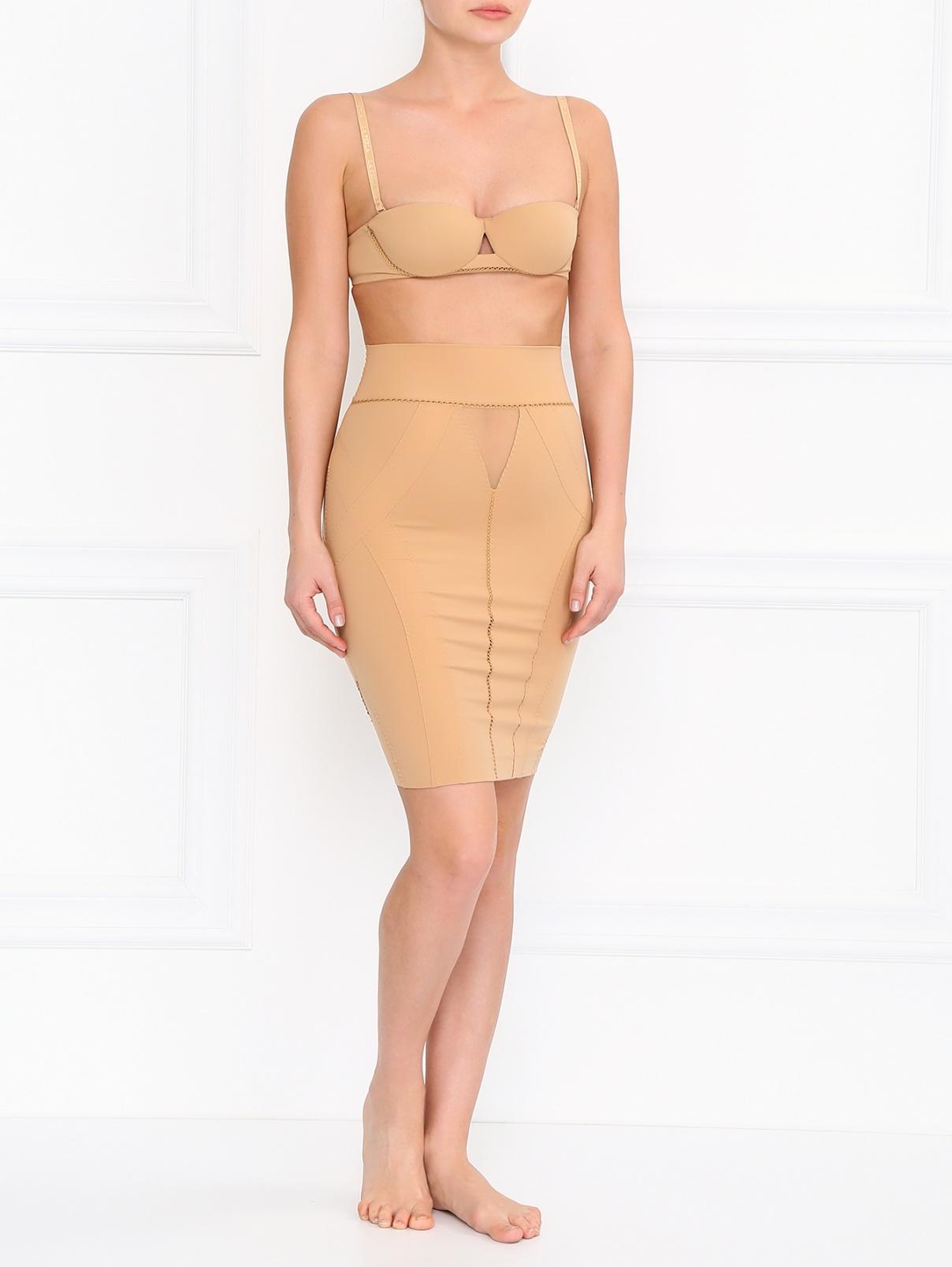 Корректирующая юбка с прозрачными вставками La Perla  –  Модель Общий вид