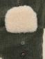Шапка ушанка из хлопка Stetson  –  Деталь