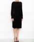 Трикотажное платье с драпировкой на рукавах Alberta Ferretti  –  МодельВерхНиз