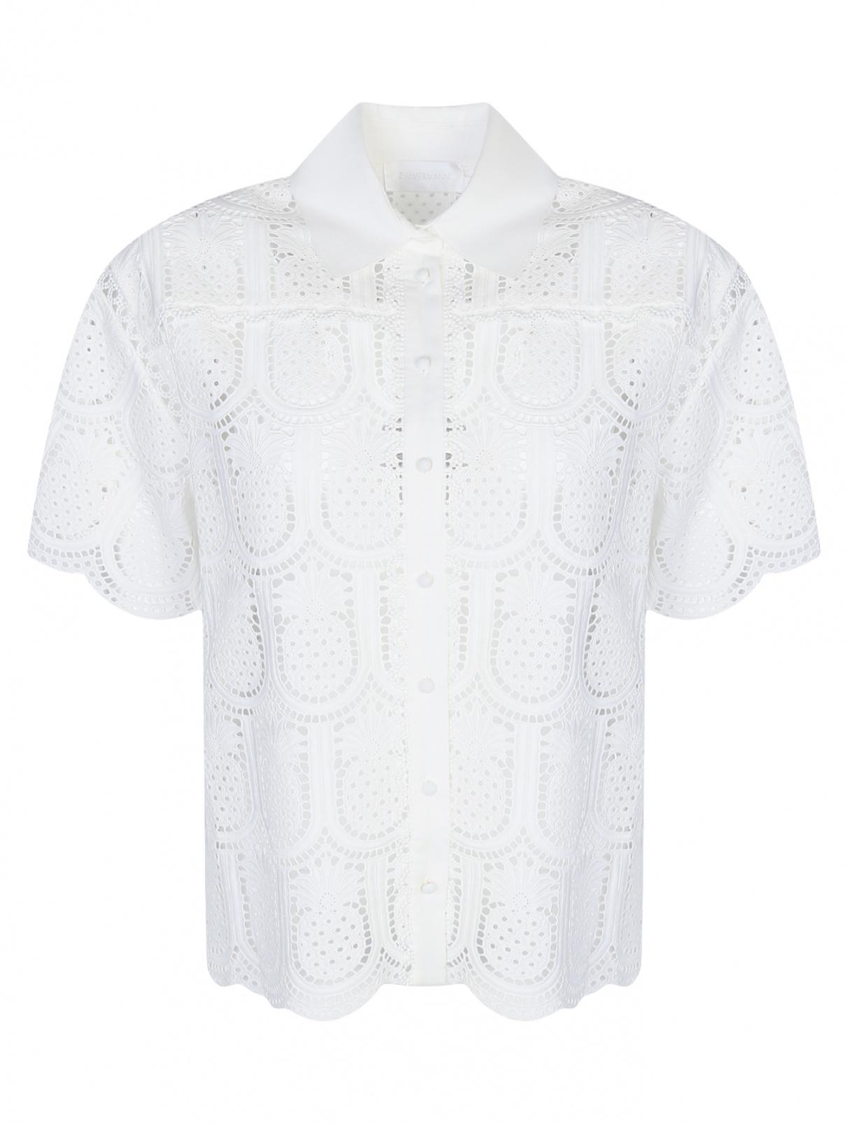 Блуза из хлопка с кружевным узором Zimmermann  –  Общий вид