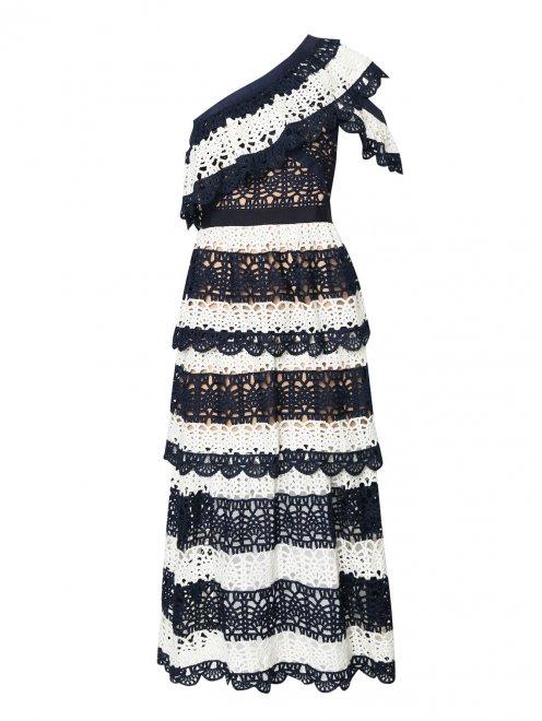 Платье из кружева контрастных цветов - Общий вид
