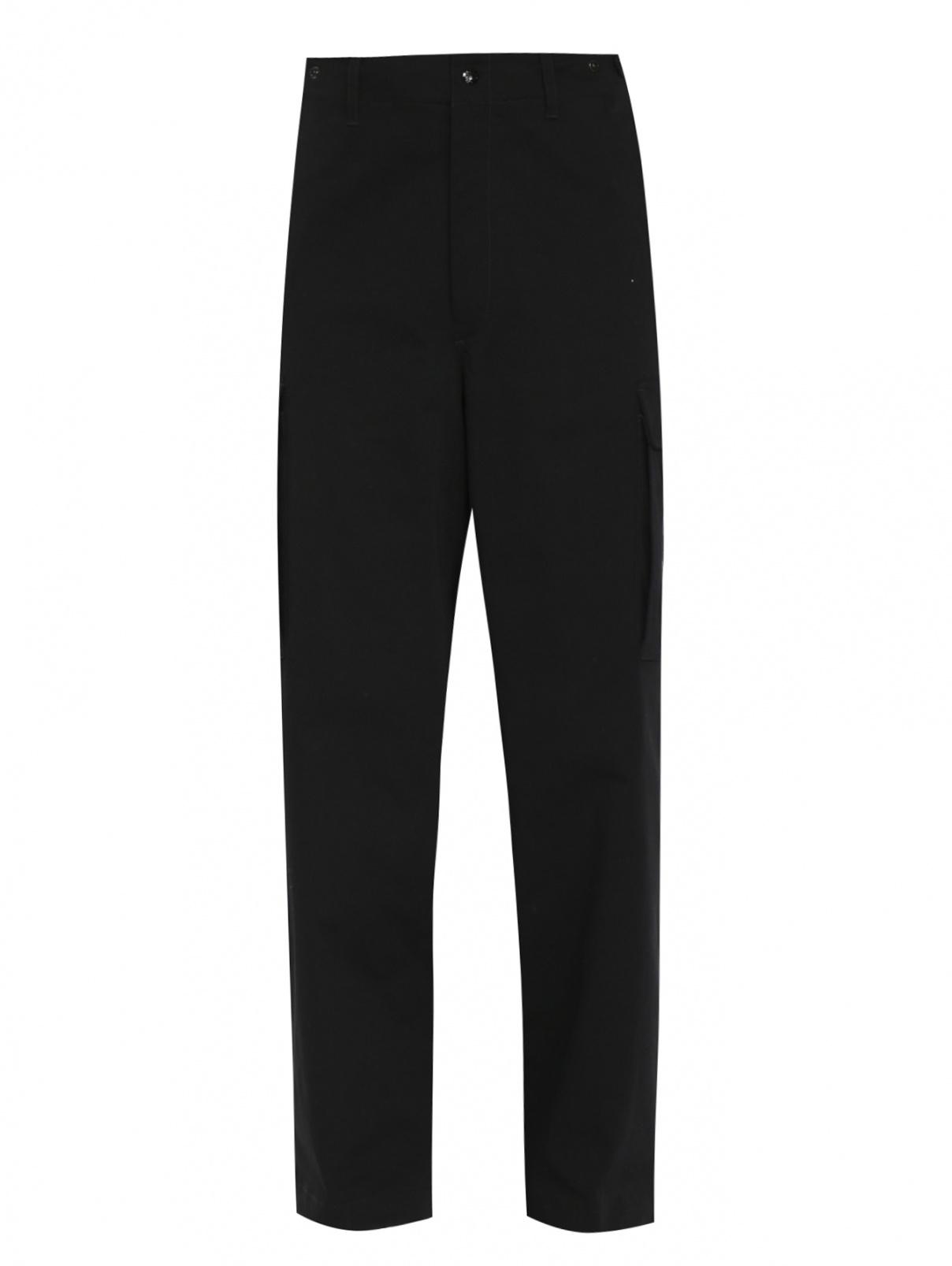 Трикотажные брюки из хлопка с накладными карманами Moncler  –  Общий вид