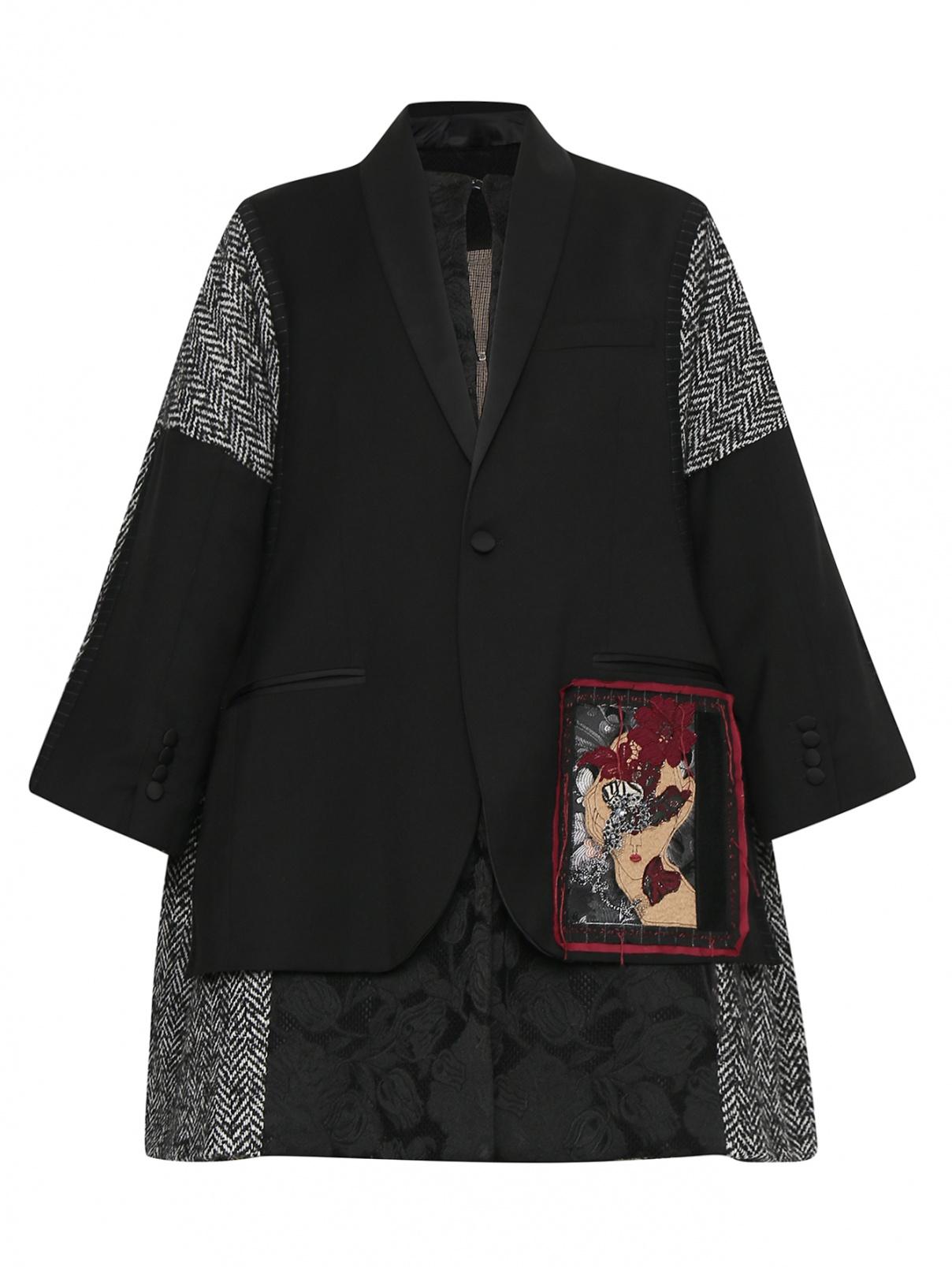 Пальто из смесовой шерсти с аппликацией Antonio Marras  –  Общий вид