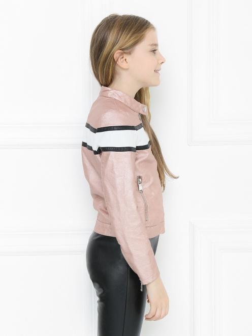 Куртка из экокожи в байкерском стиле Freedomday - МодельВерхНиз2