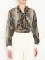 Блуза свободного кроя с узором MSGM  –  МодельВерхНиз