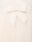 Платье макси с пышной юбкой из сетки с вышивкой на топе и бантом Rosa Clara  –  Деталь