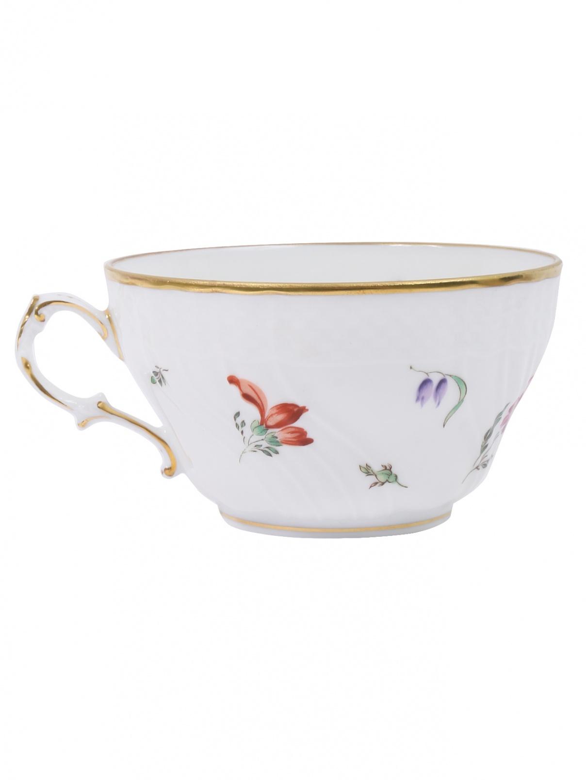 Чайная чашка из фарфора с узором Richard Ginori 1735  –  Общий вид