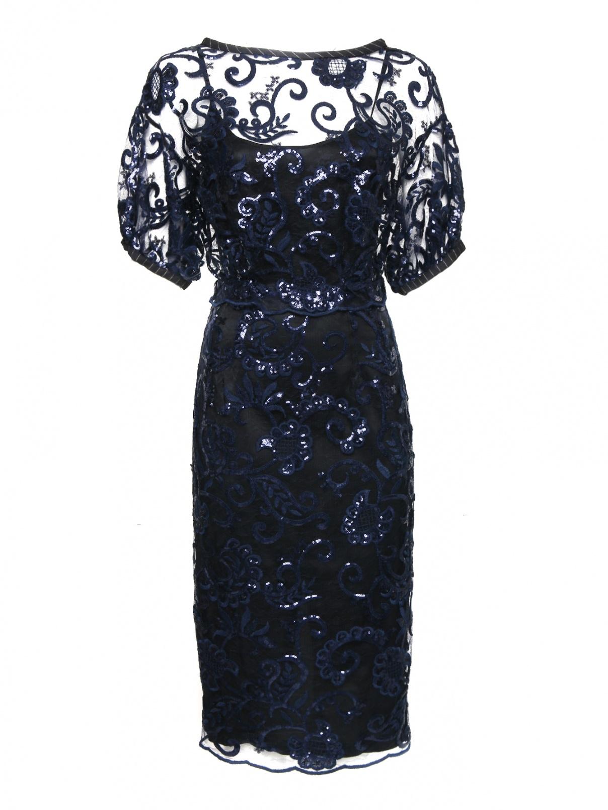 Платье-миди из кружева декорированное пайетками Antonio Marras  –  Общий вид