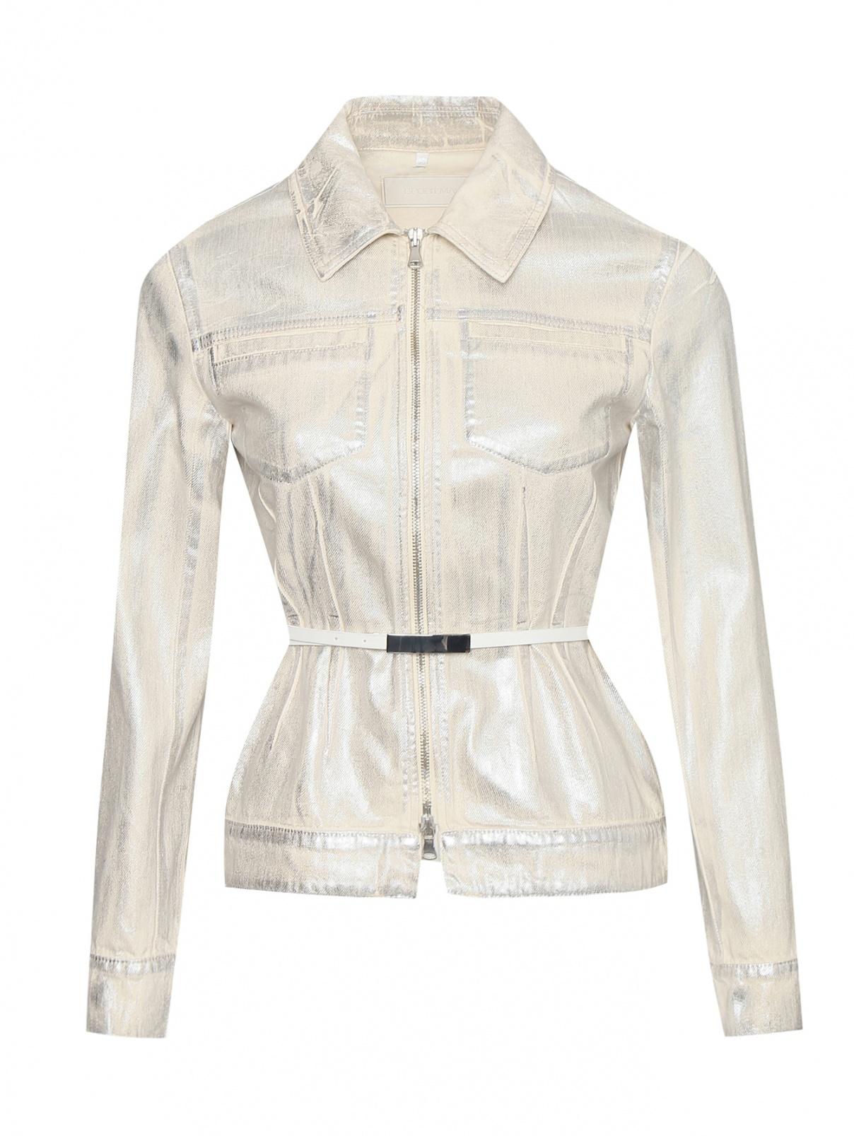 Джинсовая куртка на молнии с карманами Sportmax  –  Общий вид