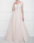 Платье макси с пышной юбкой из сетки с вышивкой на топе и бантом Rosa Clara  –  МодельОбщийВид