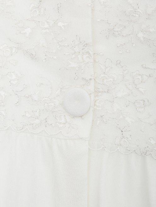 Сорочка трикотажная с кружевным декором La Perla - Деталь