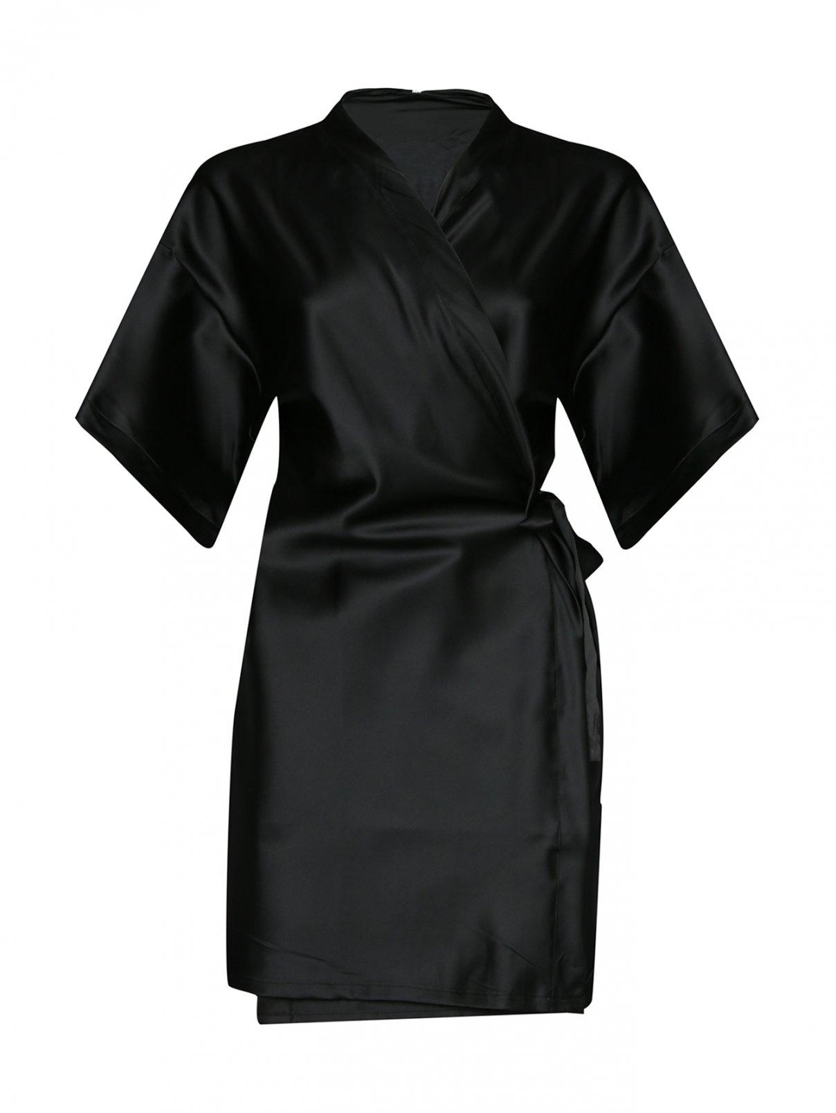 Халат прямого кроя с принтом Moschino underwear  –  Общий вид
