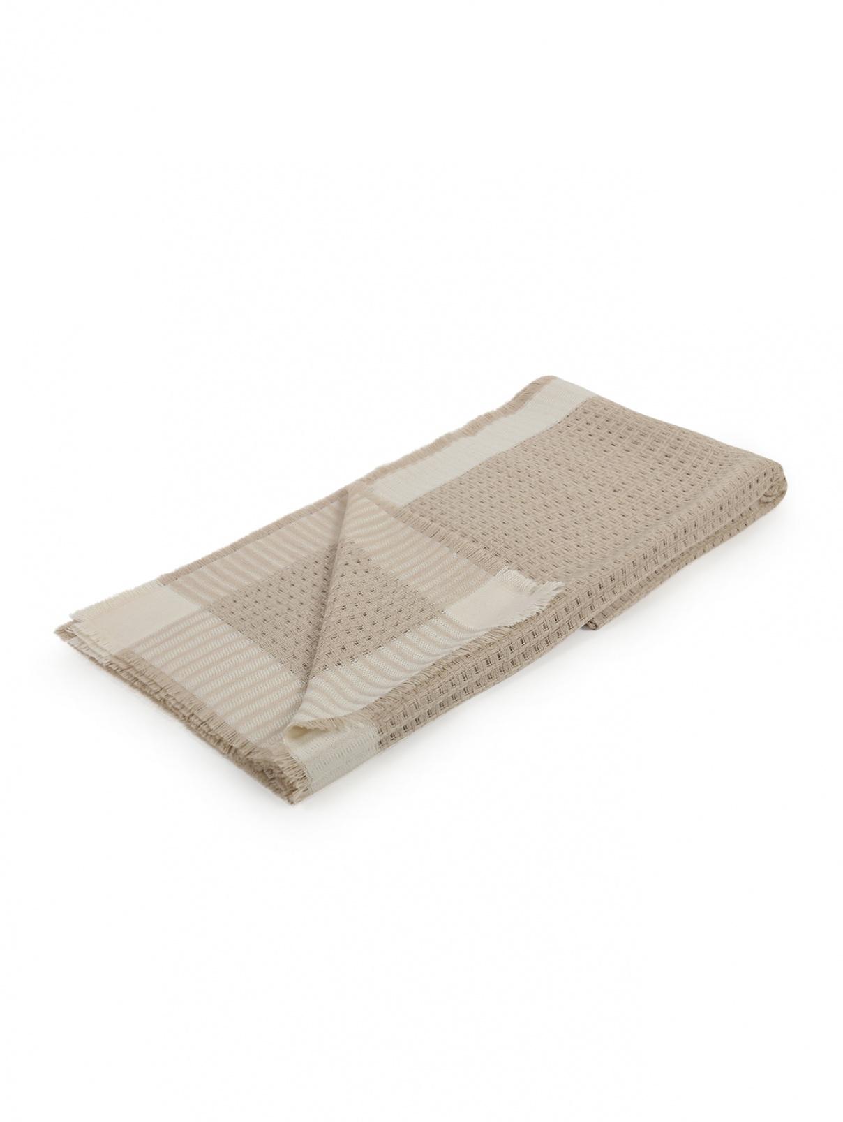 Плед из фактурной шерстяной ткани с бахромой 140 x 200 Agnona  –  Общий вид