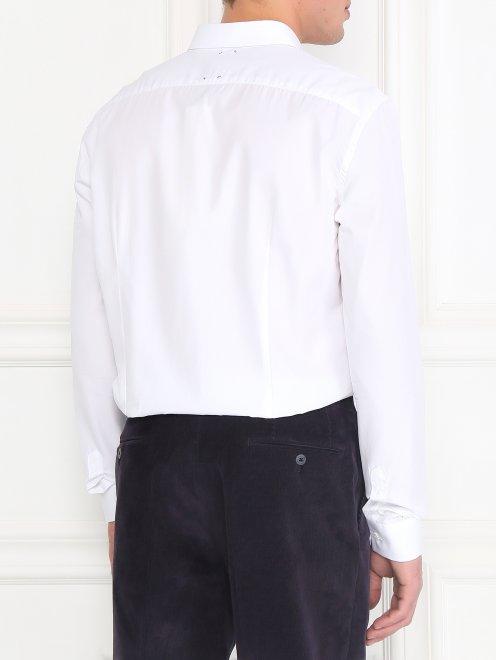Рубашка из хлопка с узором на груди - Модель Верх-Низ1