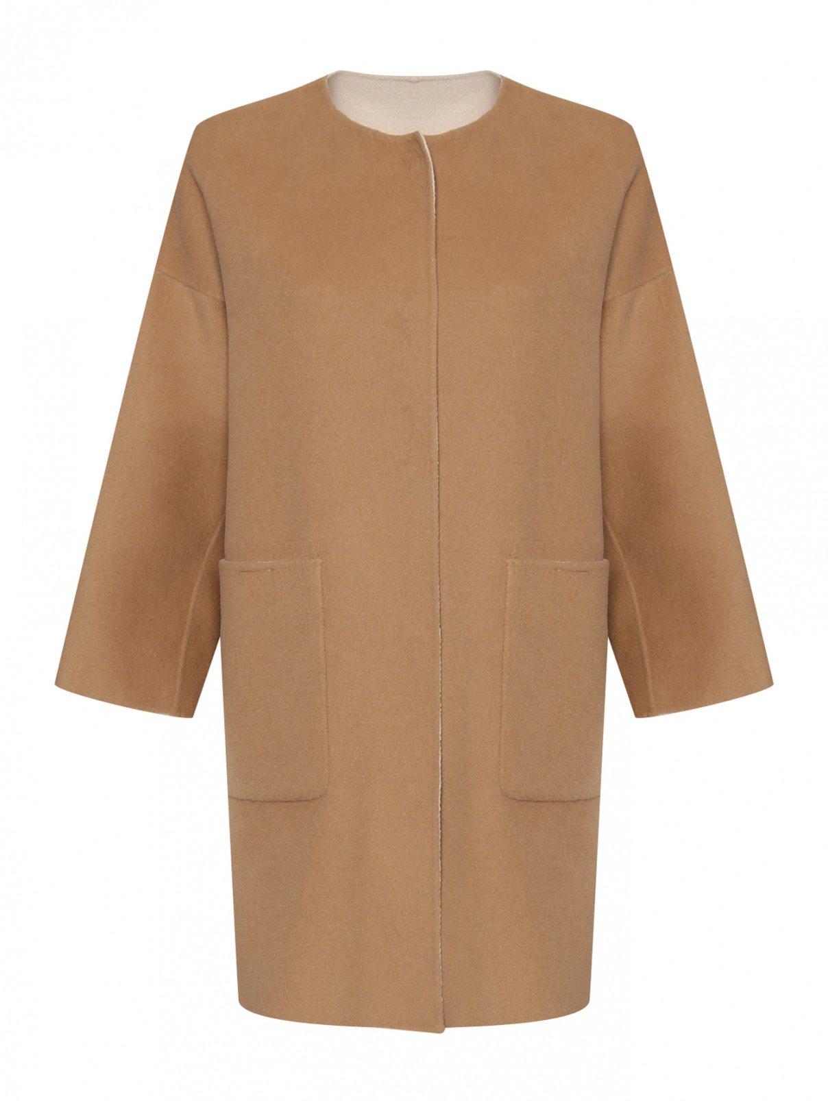 Пальто из шерсти с карманами Weekend Max Mara  –  Общий вид