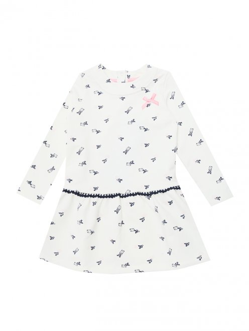 Платье трикотажное с декором Sanetta - Общий вид