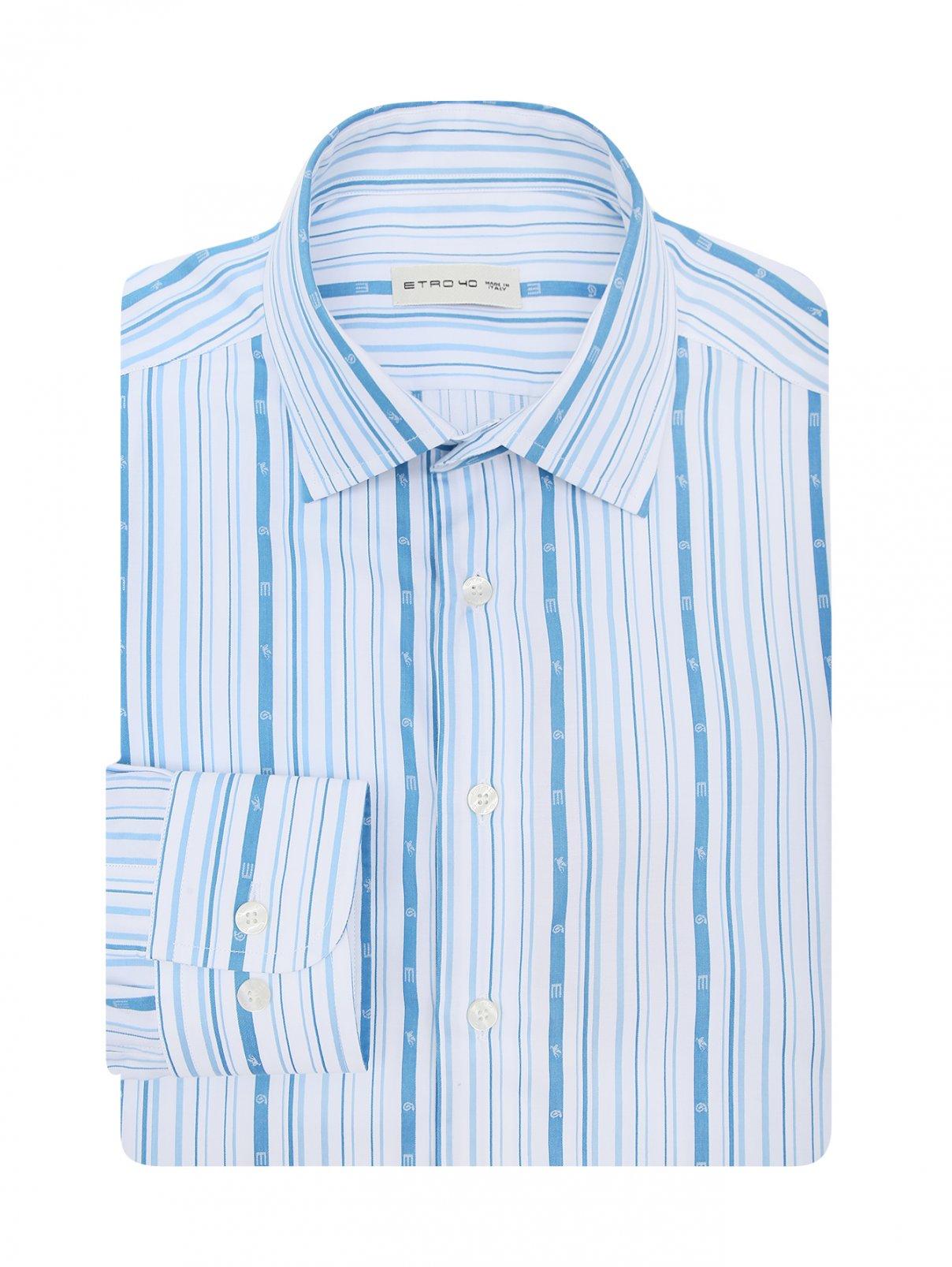 Рубашка из хлопка с принтом Etro  –  Общий вид