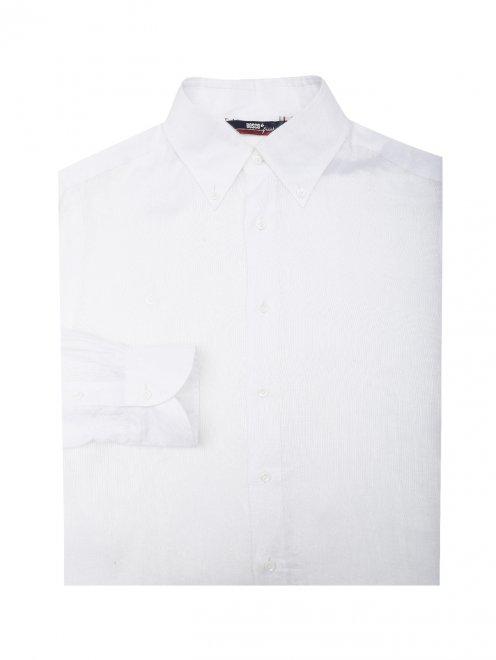 Рубашка льняная прямого силуэта  - Общий вид
