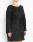 Платье-мини из жаккарда с узором Marina Rinaldi  –  Модель Верх-Низ